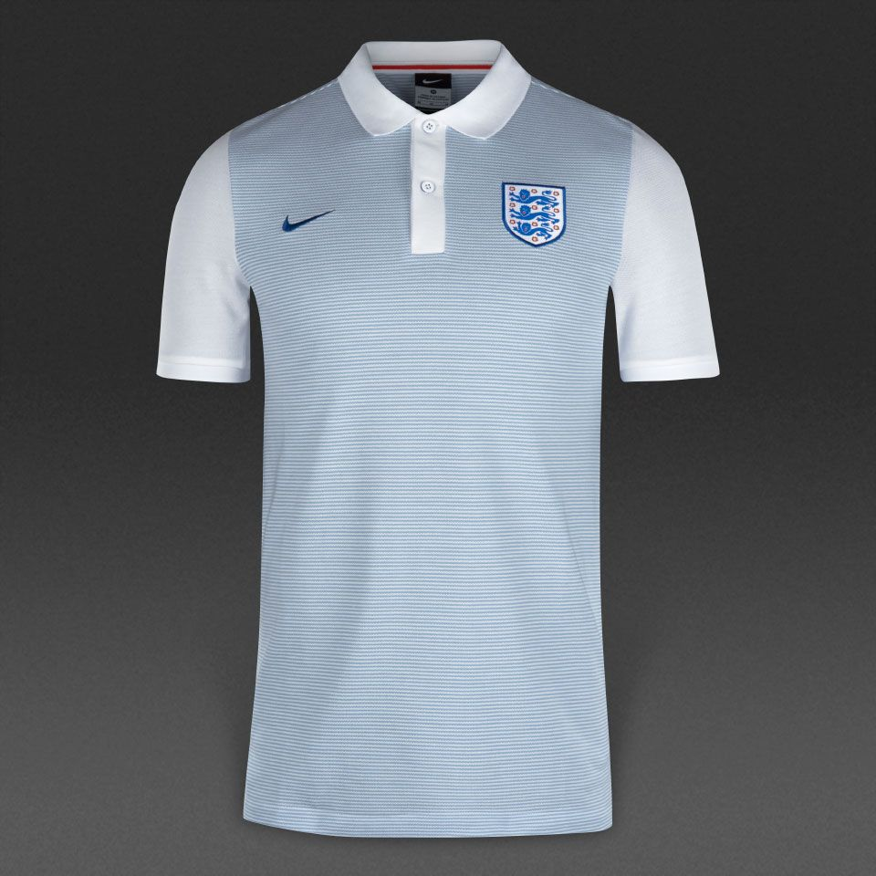 f82139c5 NIKE 727833-449 England AUTHENTIC POLO Football Shirt 2016-17 - Size Medium  NEW